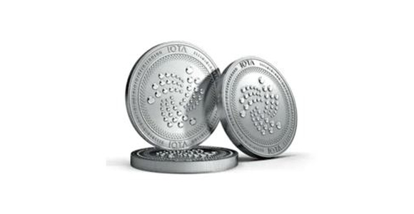Physical IOTA cryptocurrency coin