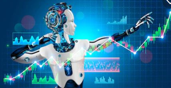Robot trader assistant on forex market. Automated trading system.
